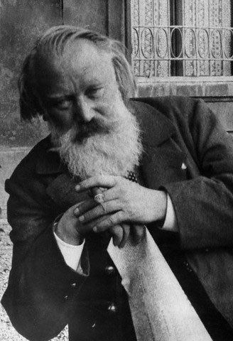 Composer Johannes Brahms Outside