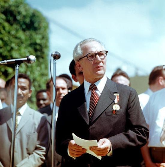 Staatsbesuch Erich Honecker 1974 in Kuba / Cuba - Rede